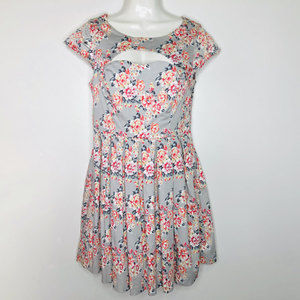 Lauren Conrad Tea Dress Cutout Sweetheart Floral